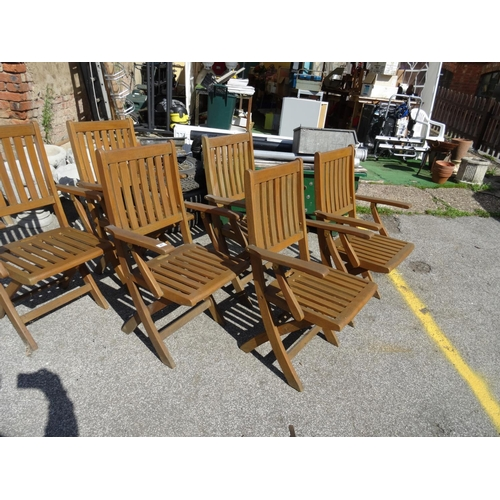 21 - Set 6 folding garden chairs