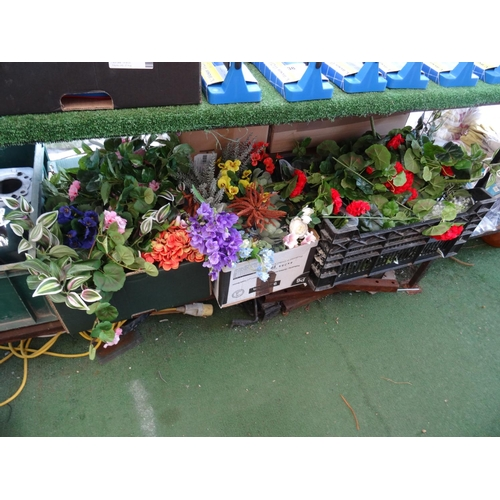 48 - Qty faux plants