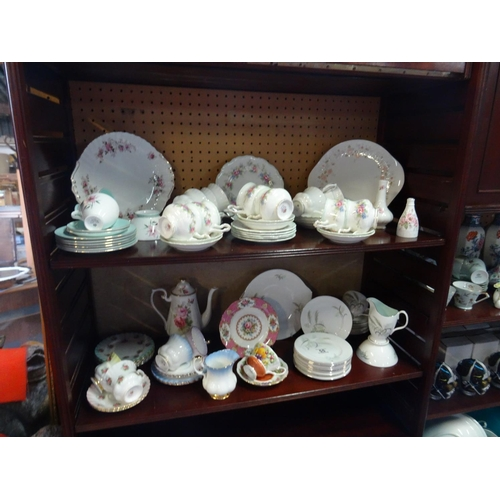 55 - 2 Shelves assorted Royal Albert china