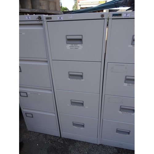 6 - 4 Drawer filing cabinet