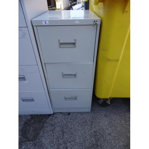 8 - 3 Drawer filing cabinet