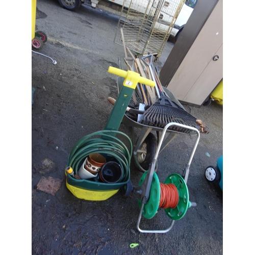 2 - Qty tools, wheelbarrow etc...
