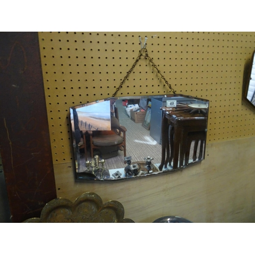 49 - Vintage bevel edge mirror...