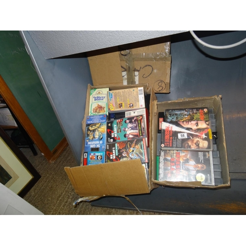 58 - 3 Boxes VHS tapes...