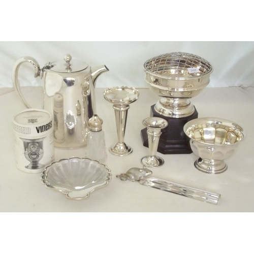 8 - Collection of Silver Plate EPNS to Include: Boxed Viners Miniature Wine Cooler,Rose Bowl,2 x Vases,C...
