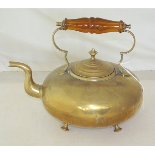 12 - Vintage Brass Kettle by James Clews, Birmingham. Early 1900s. Impressed J C B....