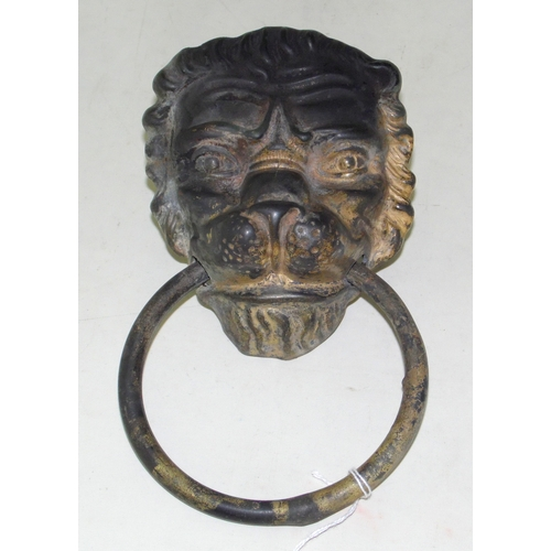 5 - Large Lion Head Metal Door Knocker with Fixing Bolts. 22 x 13 cm...
