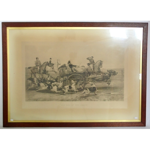 20 - Antique Arthur Tooth & Sons Photo Engraving 'The Run of the Season'. Circa 1890s. From the painting ...