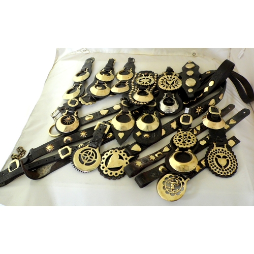 17 - Good Collection of Antique Horse Martingales and Straps. Circa 1890/1900s. (19 Items)...
