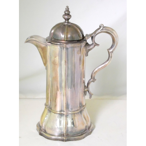 6 - Antique Silver Plate EPNS Wine Ewer. Early 19thc. Height 13.75 Inches....
