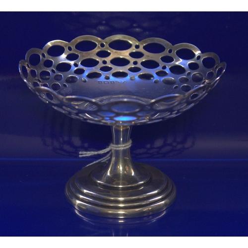 29 - Silver Miniature Tazza/Bon Bon Pedestal Fully Hallmarked For Birmingham L 1910...