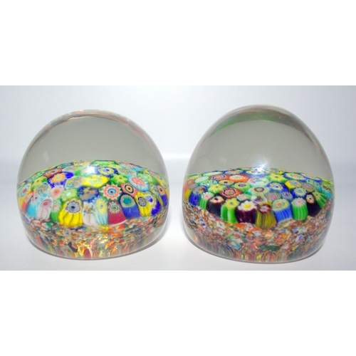 444 - Pair Of End Of Day Glass Cane Spangled Paperweight, Late 19th Early 20thC...