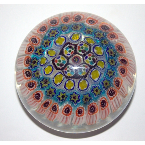 445 - Millefiori Glass Paperweight, Early20thC...