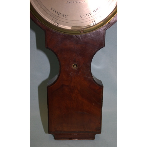 726 - Rare 6 Inch Dial Mahogany Banjo Barometer, Of Small Size, Engraved To The Dial 'DOLLAND LONDON', Mos...