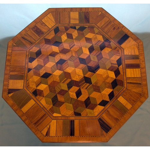 680 - Small Satinwood Urn Table With Cube Inlaid Top Of Fine Quality And Delicate Proportions, In The Sher...