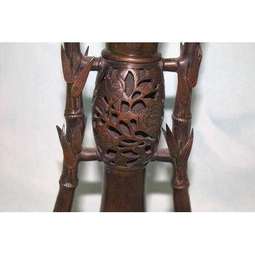 336 - Japanese - Tokyo School - Meiji  Period, Bronze Vase. Signed Kazumasa . - Toto Hidemitsu Kansei Heig...