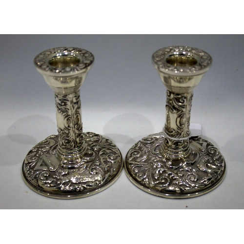 105 - Pair Of Silver Candlesticks, Fully Hallmarked For Birmingham N 1987, Makers Marks For W I Broadway &...