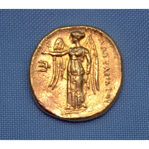 116 - Greek Gold Coin, Showing Alexander III, The Great, gold stater? weight 6.4 grams...