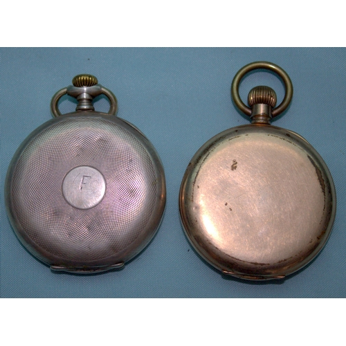 152 - 2 Gents Pocket Watches Comprising An 0,800 Silver Cased RECTA Movement Watch With W. Lennartz-Michel...