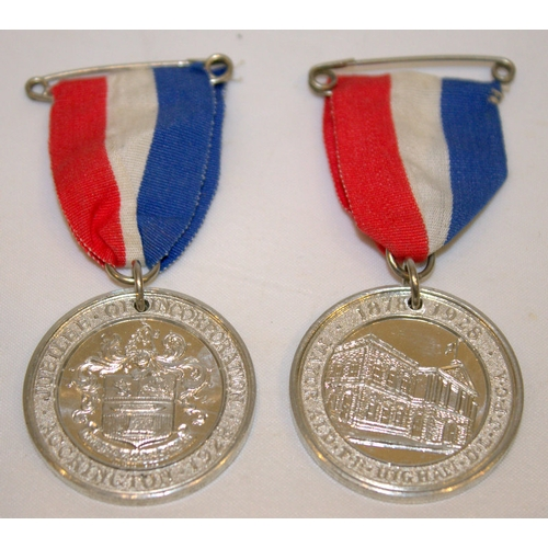 181 - 2 1978-1928 Commemorative Medals, Jubilee Of Incorporation Accrington, Both In Unc Condition...