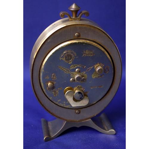 246 - Swiza Brass Oval Alarm Clock, Working...