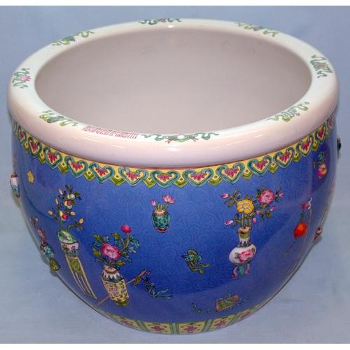 278 - Large Impressive Republic Period Fish Bowl/Jardiniere, Famille Rose Decoration....