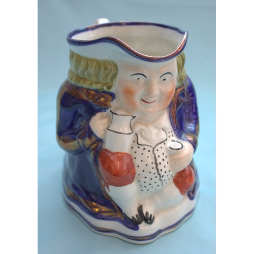 476 - Painted Toby Jug With Gilt Highlights...