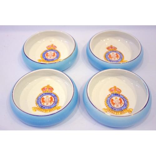 552 - Military Interest, 4 RAF Ashtrays/Finger Bowls, RAF Station Newton...