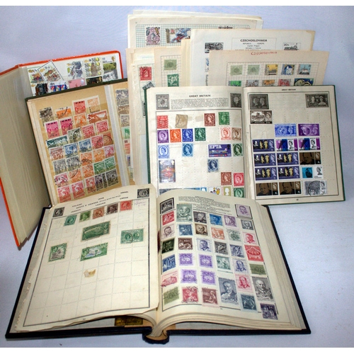 719 - Collection Of Stamps To Include Loose Leaves Of Czechoslovakian, The Amherst Stamp Album Plus 3 Othe...