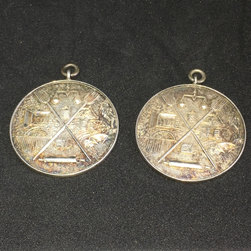 900 - Baking Interest - 2 Medals by Toy & Co Awarded By The E.B.S.A For Baking In 1958 For @seed Cake & 'D...