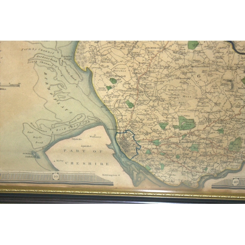 523 - Map Of Lancaster , The County Map Of Lancaster, From An Actual Survey By C & J Greenwood Regent St P...