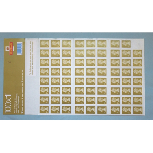 104 - Sheet Of 71 1st Class Stamps By Machim, Dated On Verso 16-02-09 (0266605)...