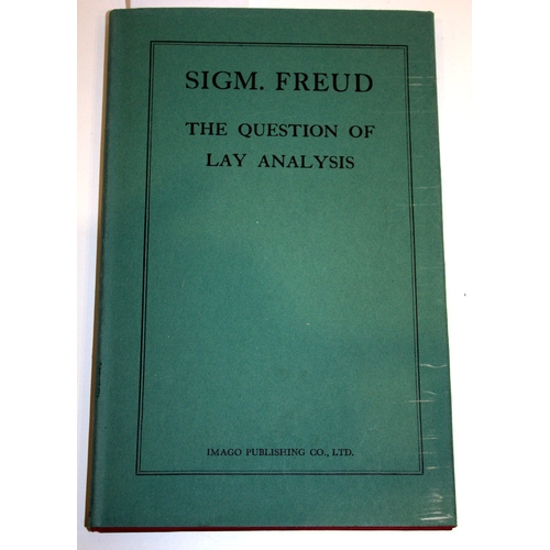 799 - Sigmund Freud, The Question Of Lay Analysis, Hardback Book, Imago Publishing Company, First English ...