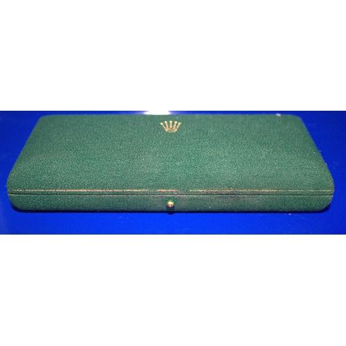67 - Ladies 9ct Gold Rolex Precision In Original Green Rolex Fitted Case...