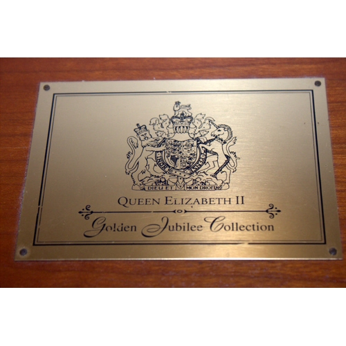 25 - Royal Mint Queen Elizabeth II Golden Jubilee Coin Collection In Fitted Wooden Box With Paperwork Com...
