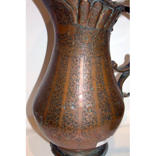 501 - 3 Antique Copper Islamic Ewers...