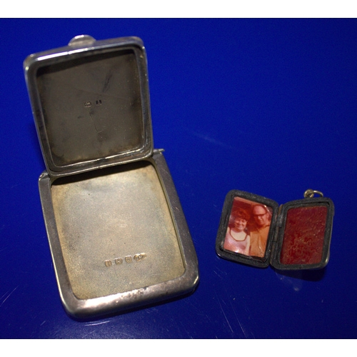 31 - Ladies Silver Compact,Hinged Top, Missing Interior, Fully Hallmarked For Birmingham 1911, Together W...