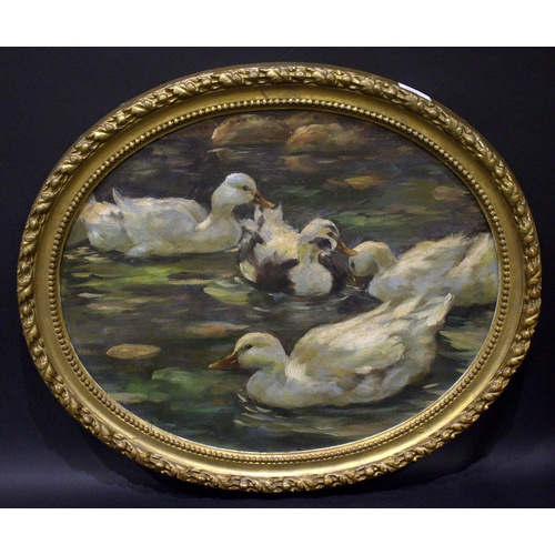 524 - Attributed To Alexander Koester (1864-1932) Oil On Canvas, Cut Down And Laid On Board, Depicting Fou...