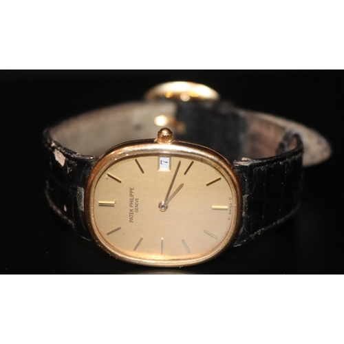 140 - Patek Philippe Gents 18ct Gold Patek Philippe Wristwatch, Model: Golden Ellipse, Leather Strap And O...