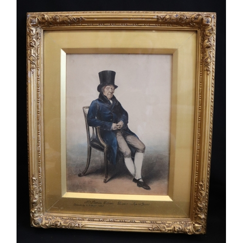 147 - A Rare Fine Quality Watercolour Drawing Of Mr Patrick Gibson, Died At The Age Of 111 Years, Drawn By...
