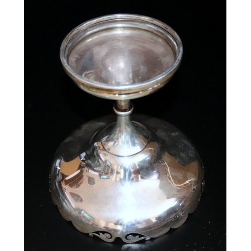 21 - Silver Chalice Style Fruit Bowl, Fully Hallmarked For Sheffield Walker & Hall 1911, 539.5 Grams Tota...