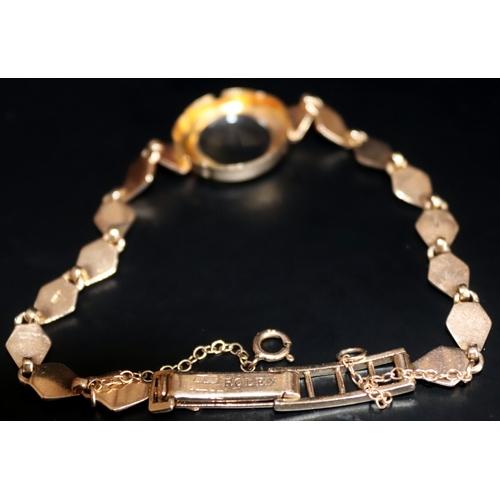 73 - 9ct Gold Ladies Rolex Wristwatch Bracelet, Fully Hallmarked, Weight 10g...