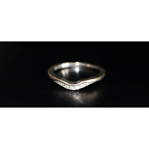 155 - 9ct White Gold Diamond Ladies Dress Ring, Ring Size K, Weight 1.7g...