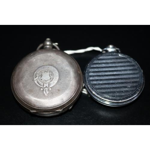200 - Silver H Samuel Pocket Watch, Stamped 925, Together With Sekonda Pocket Watch, 92.4 Grams Total Weig...