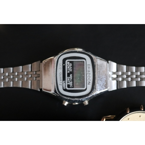 202 - 6 Ladies Watches To Include Braddon LCD Quartz, Lafavre, Ingersoll, Amertime And Timex...