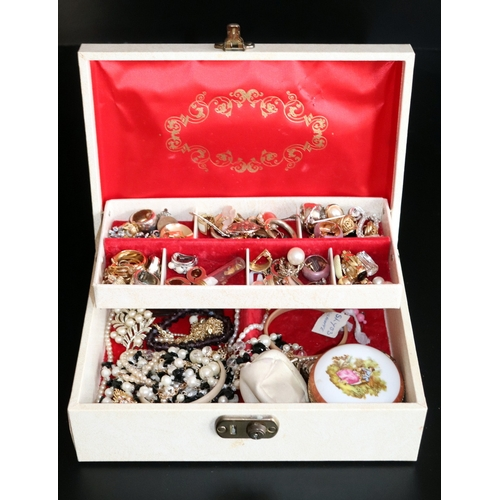196 - Jewellery Box Containing A Mixed Lot Of Costume Jewellery...