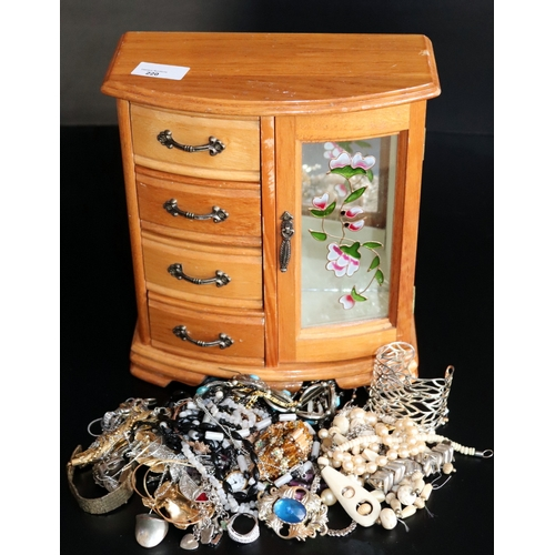 220 - Jewellery Box Containing A Mixed Lot Of Costume Jewellery...