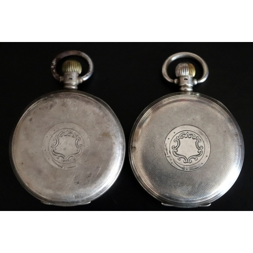 110 - Two Gents Silver Pocket Watches, Both A.L.D Cases, White Enamel Dials, One Marked Craftsman (Movemen...