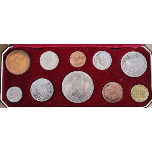 235 - 1953 Royal Mint Proof Coin Set, Ten Coin Coronation Set, In Fitted Box...