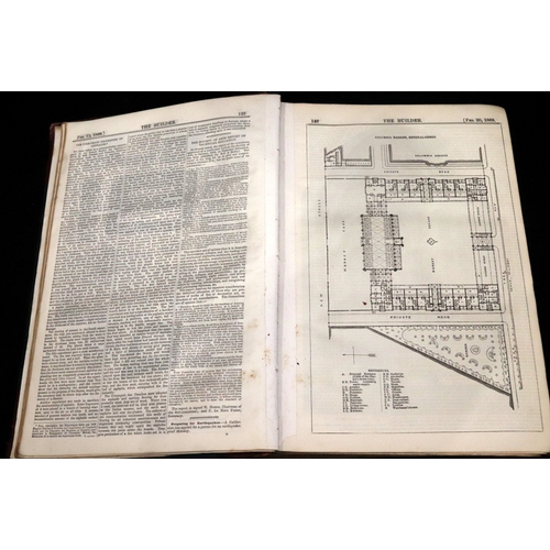 381 - A hand made book called Architectural sketches - made up from various issues of